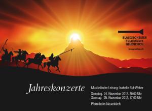 Flyer Jahreskonzerte 2012