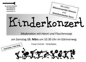 Flyer Kinderkonzert 2014