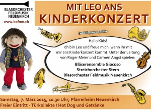 Kinderkonzert 2015 Flyer
