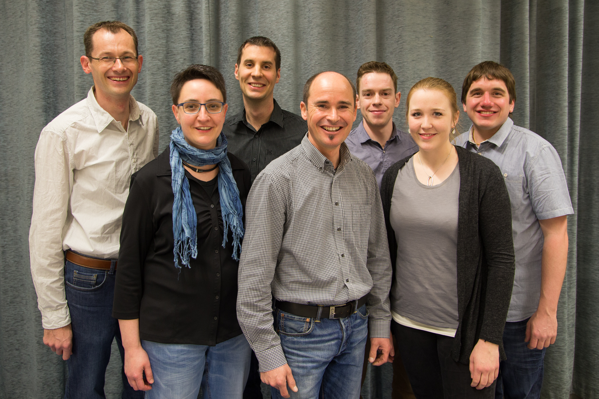 Musikkommission (von links nach rechts: Ivo Huwiler, Cornelia Morokutti, Gregor Käppeli, Roger Meier, Heinz Stalder, Sonja Wyss, Pascal Jurt)