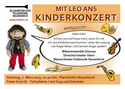Flyer Kinderkonzert 2015