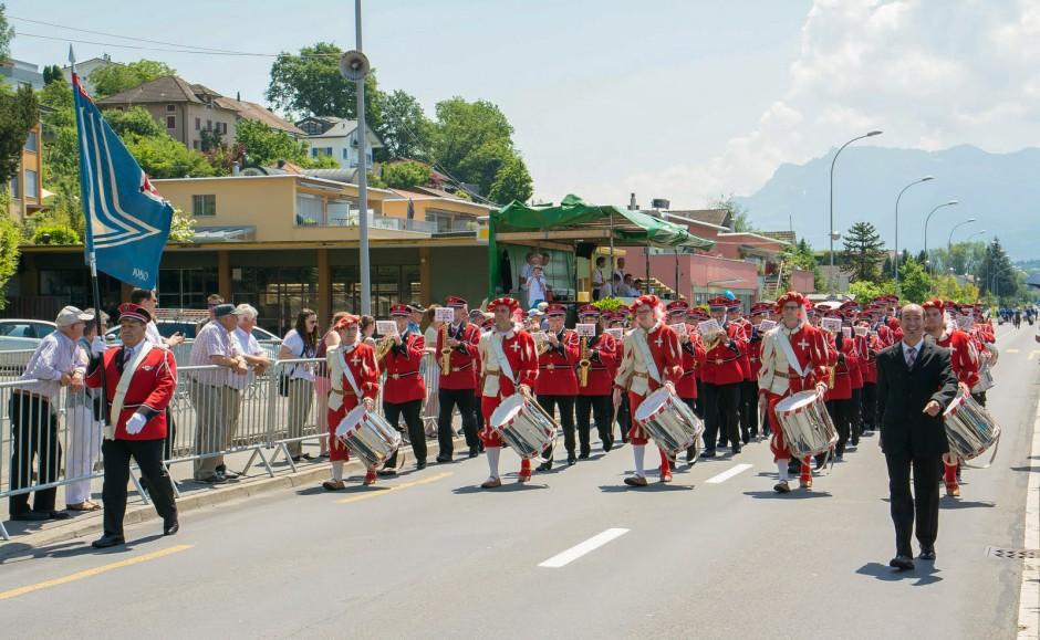 Parademusik am Luzerner Kantonal Musikfest 2015 in Sempach