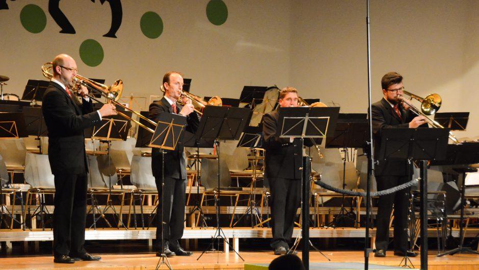 Posaunen Quartett des Blasorchesters Feldmusik Neuenkirch (Foto: Franziska Kaufmann, Sempacher Woche)